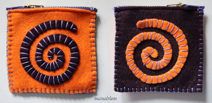 PORTACOSE: Serie di astucci quadrati personalizzati e cuciti a mano.