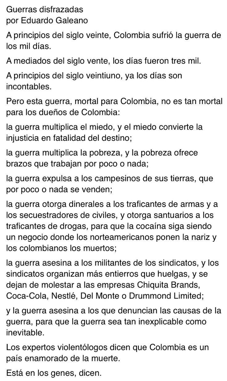 Guerras Disfrazadas. Espejos. Eduardo Galeano