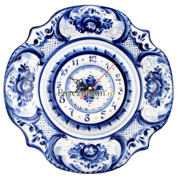 gzhel | Часы, Гжель - Clock, Gzhel. | Russian Maiolica - Gzhel