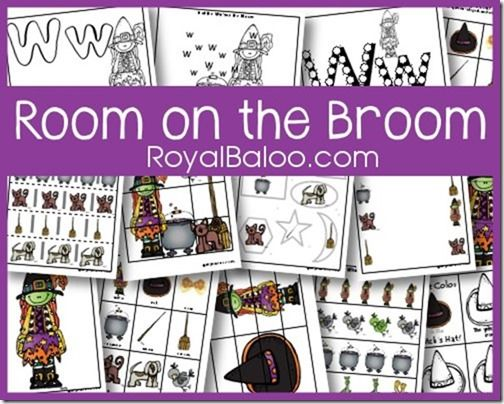 Free Room on the Broom Tot and PreK Packs