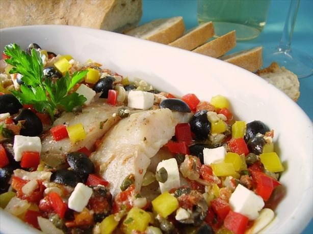 Check out greek baked fish it 39 s so easy to make white for Greek fish recipes