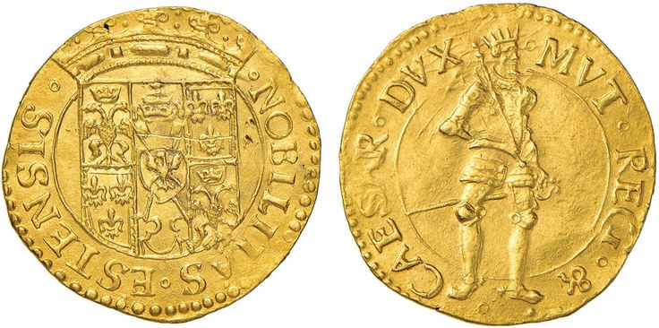 NumisBids: Nomisma Spa Auction 50, Lot 146 : MODENA Cesare (1597-1628) Ongaro – MIR 671 AU (g 3,44) Esemplare di...