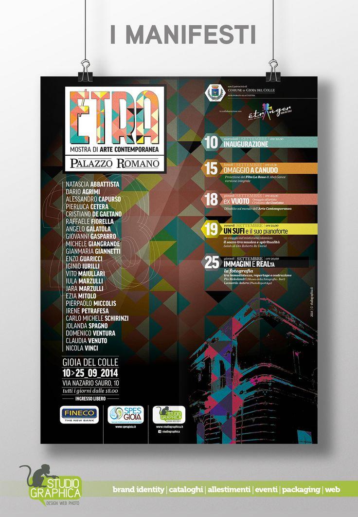 manifesto Etra - Mostra di Arte Contemporanea presso Palazzo Romano a Gioia del Colle (BA)