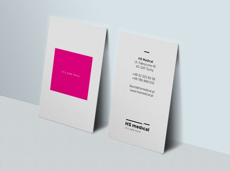 HS Medical business card #pleo #branding #design #businesscard #id #identity