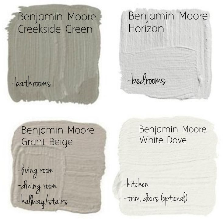 Great Neutral Paint Palette By Benjamin Moore- Creekside