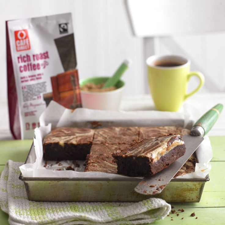 Who could refuse a freshly baked cream cheese marble brownie � perfect for an afternoon treat.
