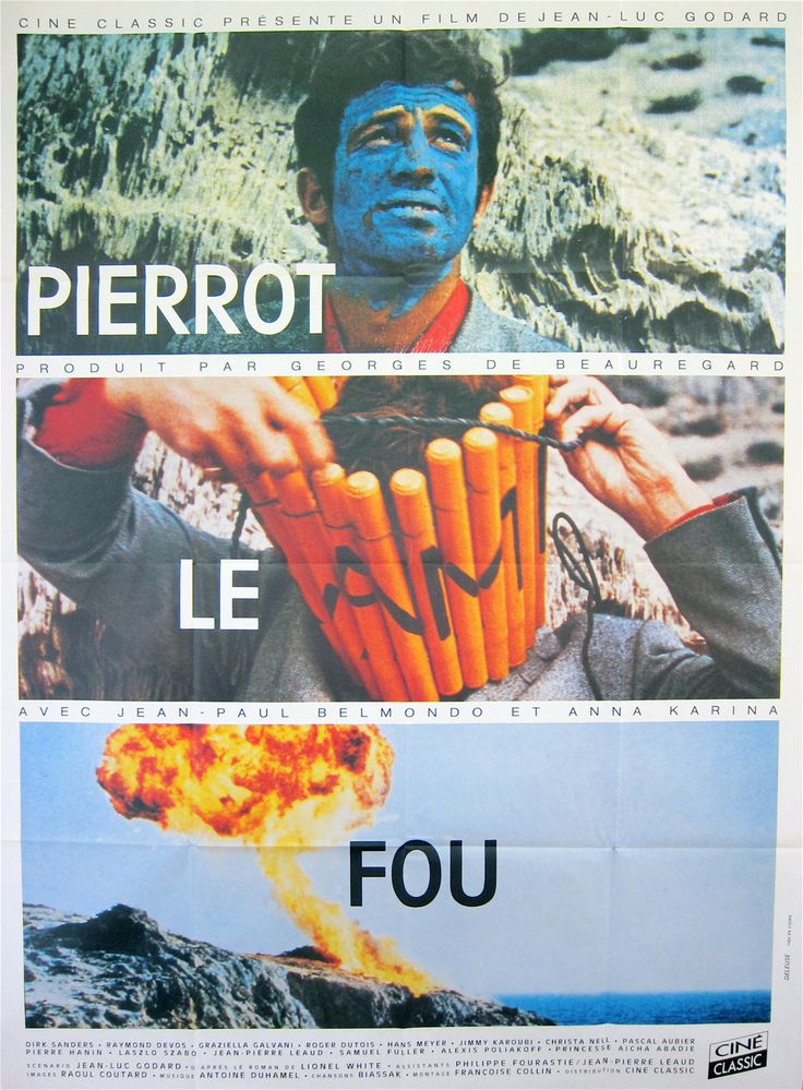 Pierrot le fou, dir. Jean-Luc Godard // can't say I've watched it but Godard is always intriguing