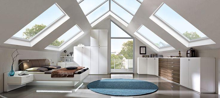 Kleiderschrank für Dachschräge weiß beim BBM