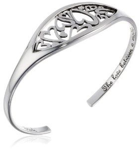 """This heartfelt expression of the love between mother and daughter is crafted in bright 925 sterling silver measures 6.5"""" from end to end at $69.00  http://www.bboescape.com/products/85/jewelry"""
