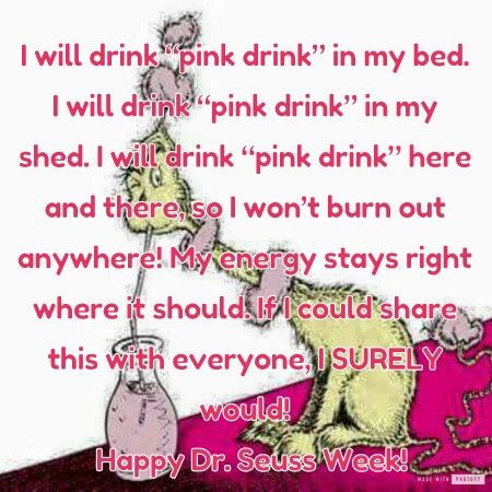 Happy Dr. Seuss Week! Drink Pink! Plexus For Life! www,shopmyplexus.com/michellebennink