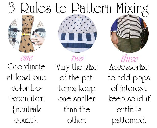 Chasing Davies: Three Easy Rules to Pattern Mixing