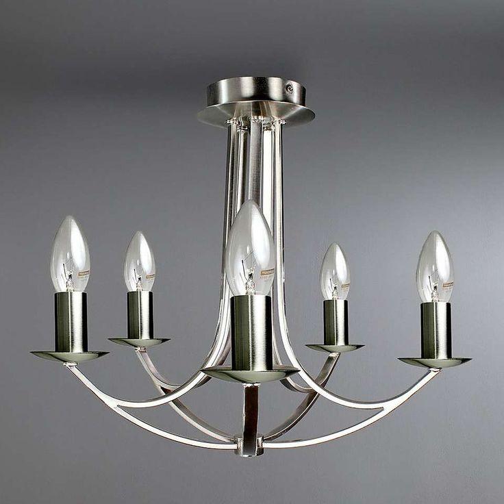 avery satin 5 ceiling light fitting dunelm lighting. Black Bedroom Furniture Sets. Home Design Ideas