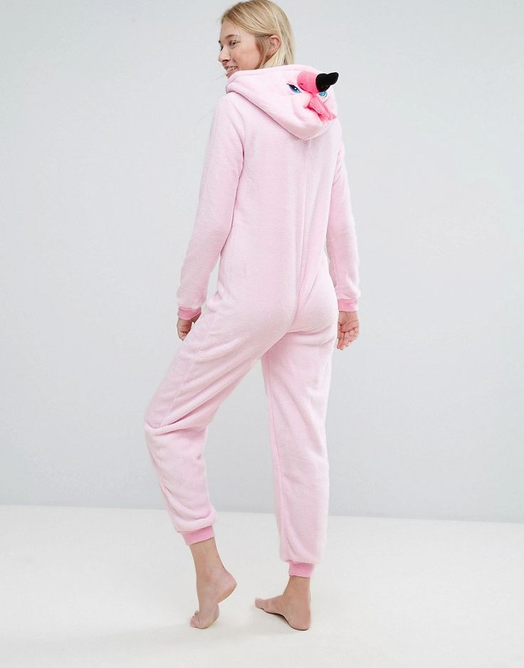 Loungeable Flamingo Pink 3D Onesie - Pink
