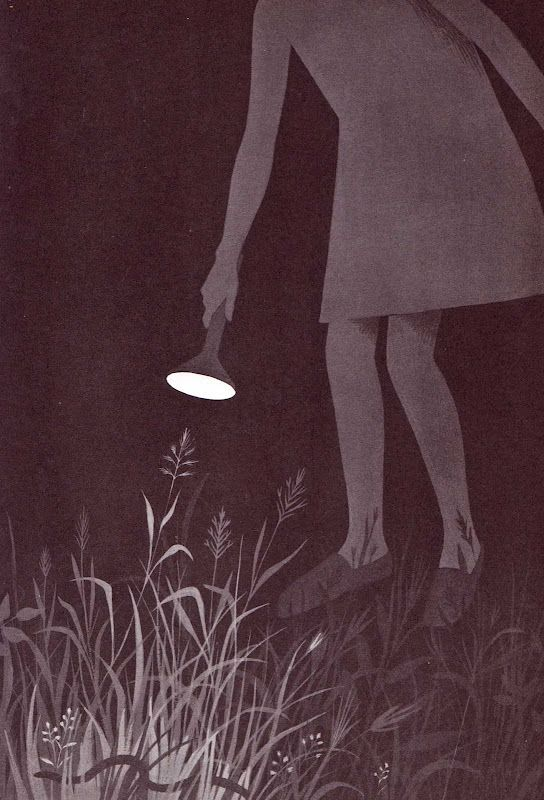 lovely use of tone. In the Middle of the Night  Aileen Fisher ~ Adrienne Adams