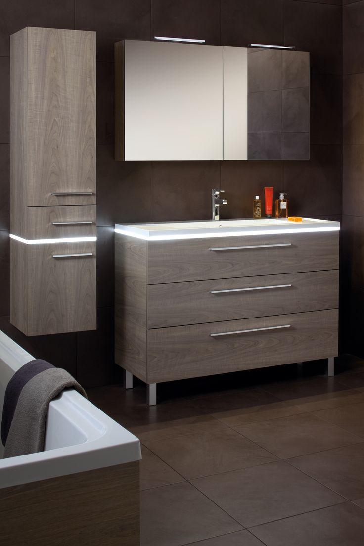 #marron #brown #salledebain #bathroom #halo #Sanijura #meubles #meublessalledebain