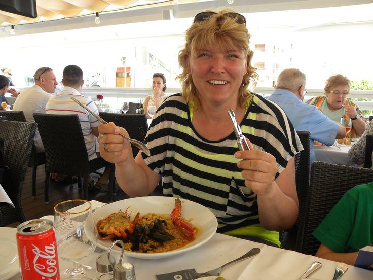 Voor het eerst kreeft eten... Restaurant Les Barques
