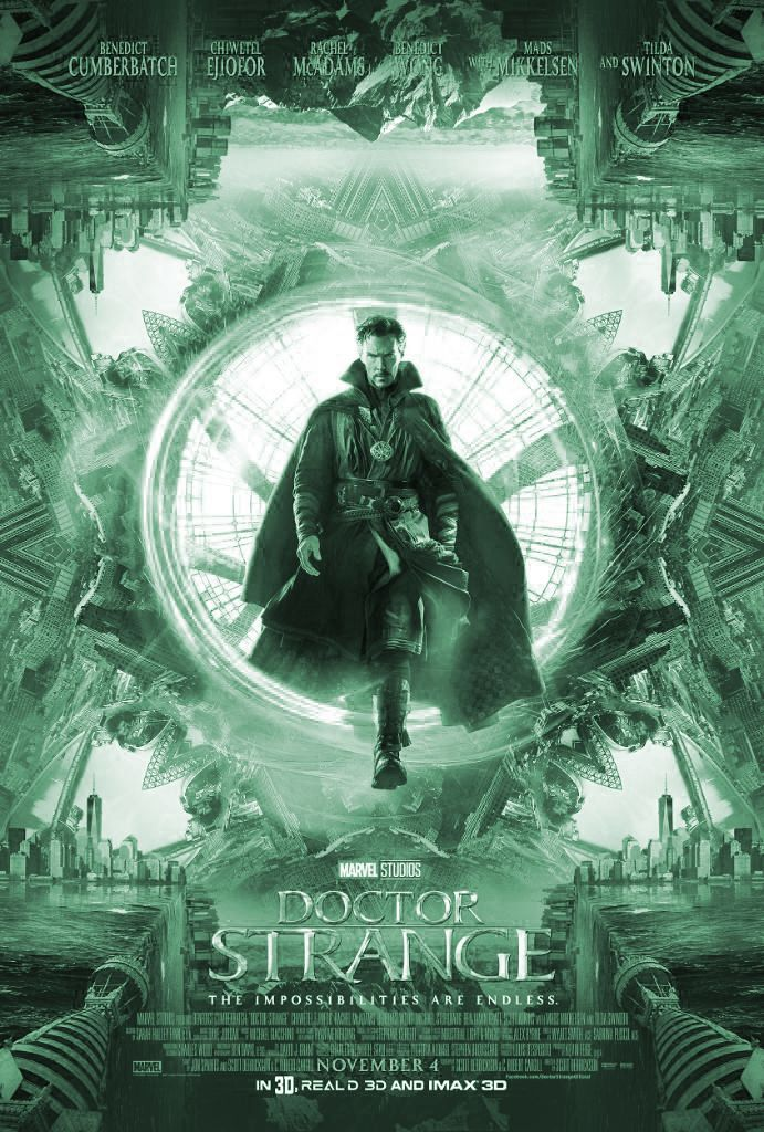 DOCTOR STRANGE is een Amerikaanse actie-avonturenfilm uit 2016, geregisseerd door Scott Derrickson. De film is gebaseerd op het Marvel Comics-personage Dr. Strange en werd geproduceerd door Marvel Studios en verdeeld door Walt Disney Pictures en is de veertiende film van het Marvel Cinematic Universe en de tweede film van Phase Three. Benedict Cumberbatch speelt het titelpersonage.