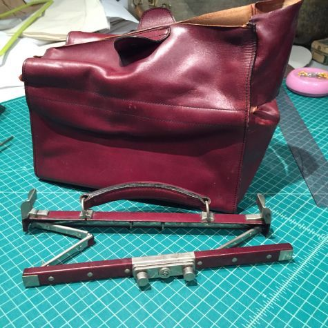 This is the first in a three-part blog series documenting how I made a Gladstone bag out of Fortuny fabric, from a vintage model.