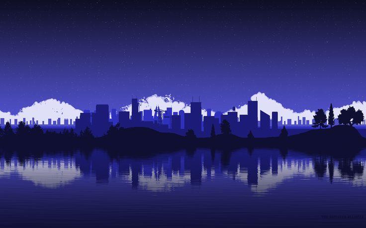 City in pixel art #pixelart