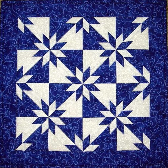 This Hunters Star is my favorite two color quilt.