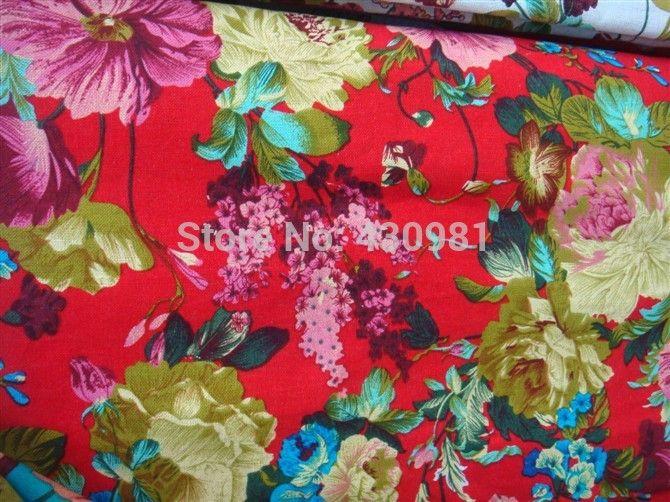 Синий цветочный дизайн хлопок льняной ткани для платья cheongsam старинные китайский этнические большие цветы печати материал telas купить на AliExpress