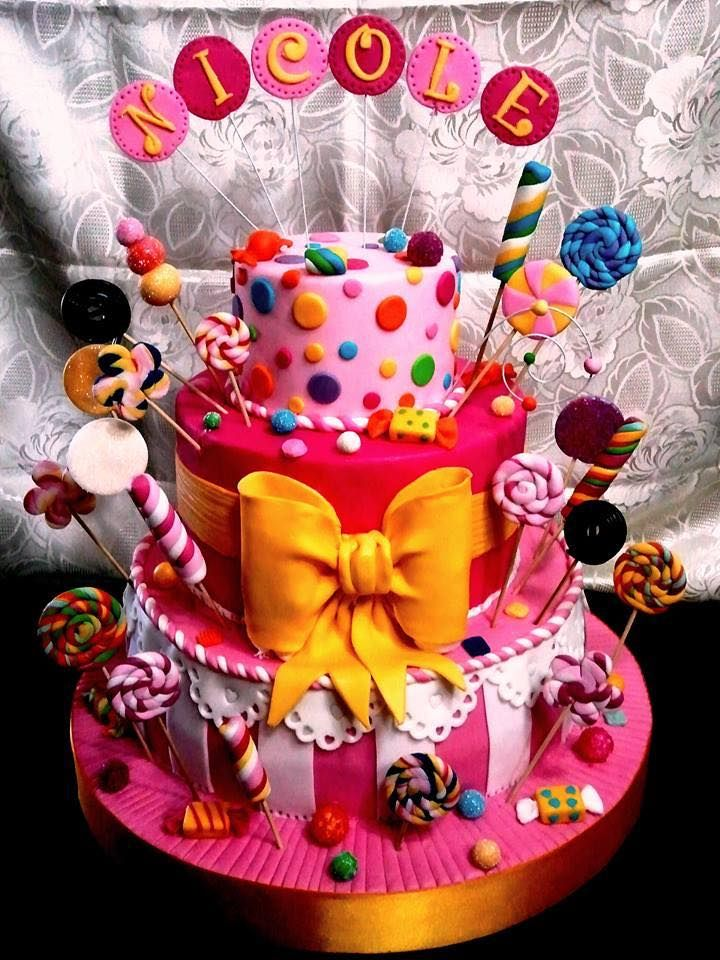 Sweet - Crusty - Tasty - Candy - Cake - Cake art - color full