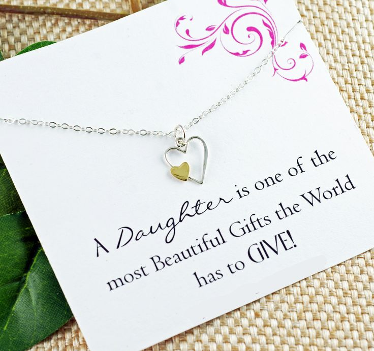 A Daughter Is A Beautiful Gift Keepsake Necklace