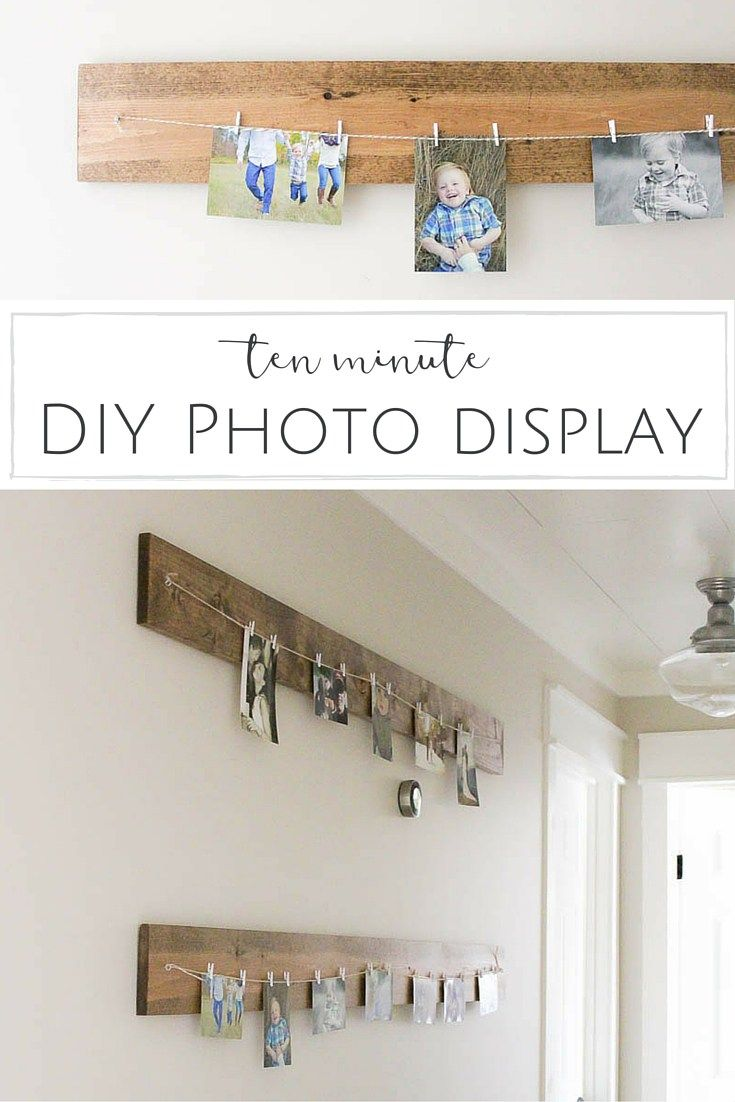 This DIY Photo Hanger is such a pretty way to display artwork or photos - changing them out is an absolute breeze and it's so simple to make too! | www.makingitinthemountains.com
