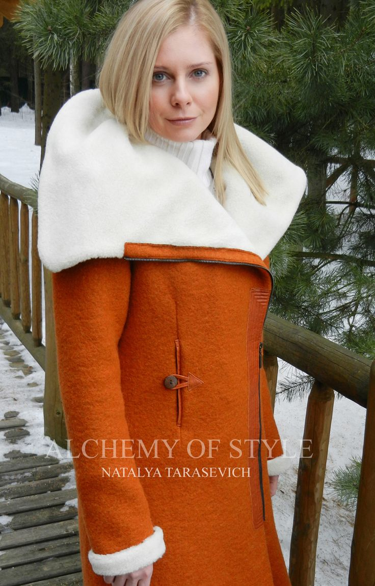 eco coat from the collection ALCHEMY OF STYLE by Natalya Tarasevich