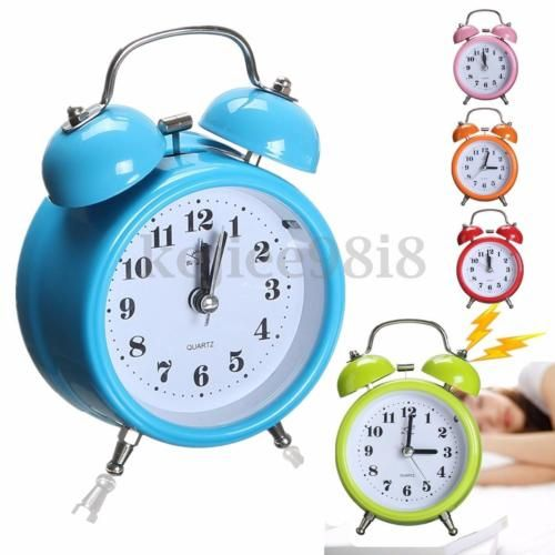 #Double bell desk alarm clock traditional #bedside home #office with night light,  View more on the LINK: 	http://www.zeppy.io/product/gb/2/131745687806/