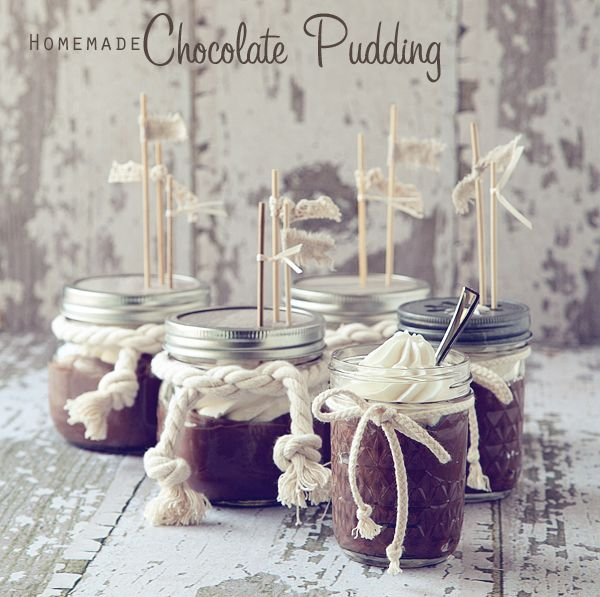 @Meredith Lefforge- tasty and elegant chocolate pudding with chantilly cream made from