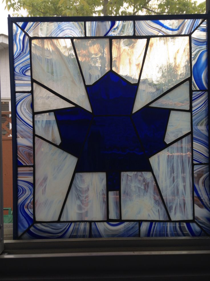 Toronto Maple Leaf Stained Glass