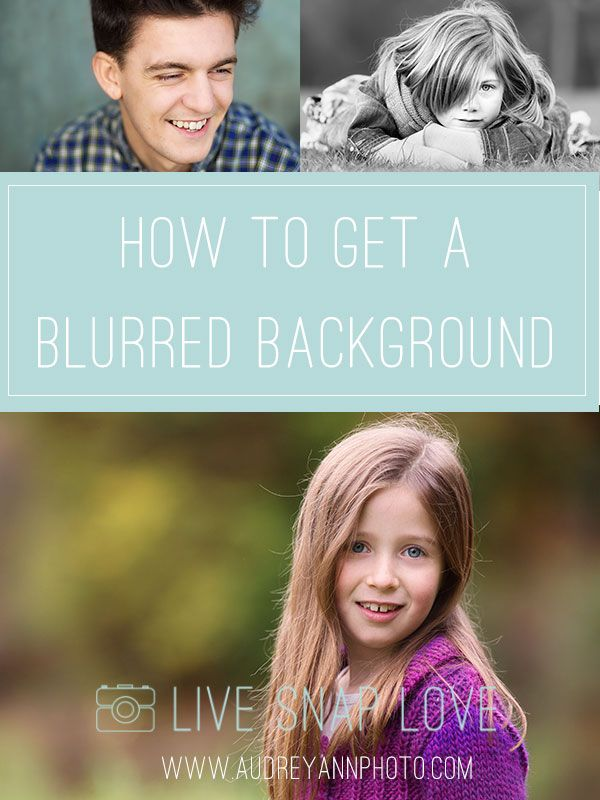 A Step-by-step guide to getting a blurred background in camera.  This little trick is used a lot in portrait photography, as it lets your subject stand out and be the main focus.