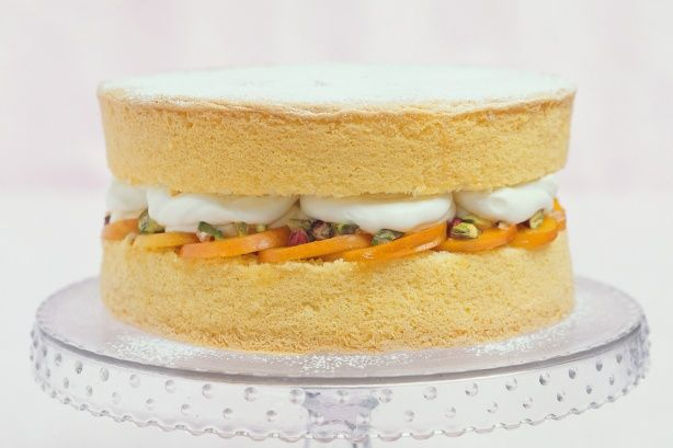 Basic Sponge Cake using only 3 types of flour, eggs, and sugar. No butter, milk, baking soda, or other unnecessary ingredients.  Source: Taste.com.au
