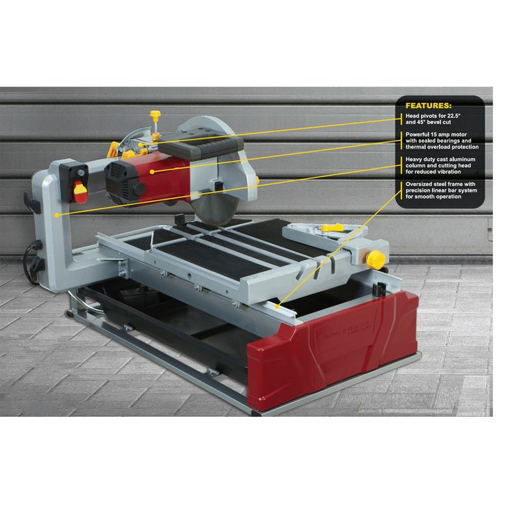 """2.5 Horsepower 10"""" Industrial Tile/Brick Saw. Might buy for cutting bathroom tile. $280. Good reviews for it at Amazon."""