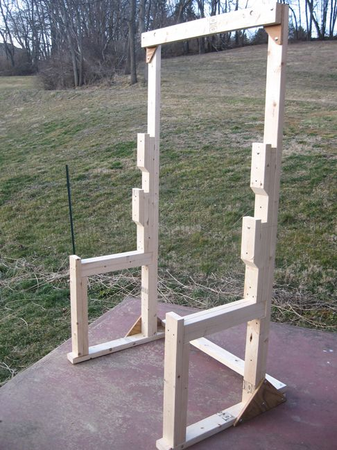 25 best ideas about bench press rack on pinterest bench for How to make a homemade squat rack