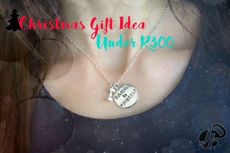 Christmas Gift Idea - Sterling silver tag and Dumbbell on 50cm silver chain.   #Jinxibell #motivation