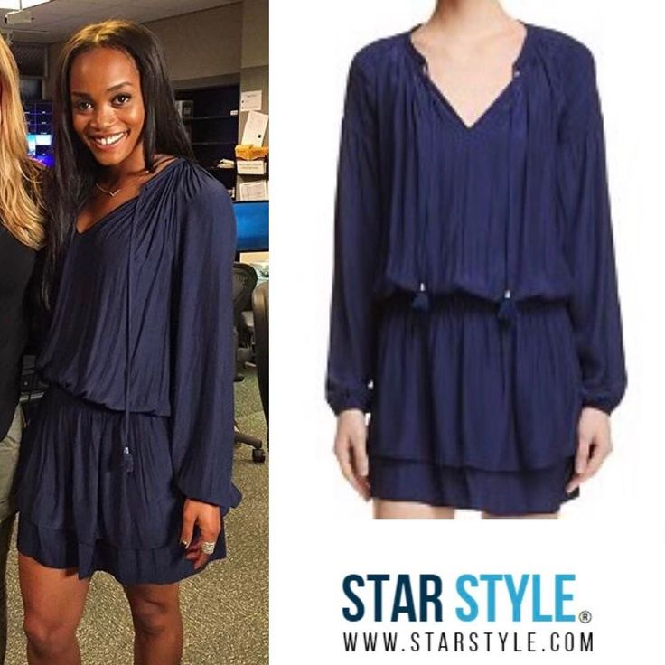 Rachel Lindsay wore a Ramy Brook dress today doing promo for The Bachelorette  Shopping info at www.starstyle.com