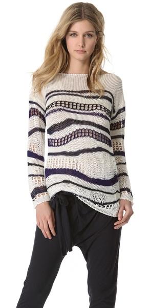 Jean Paul Gaultier Open Knit Sweater - Lyst