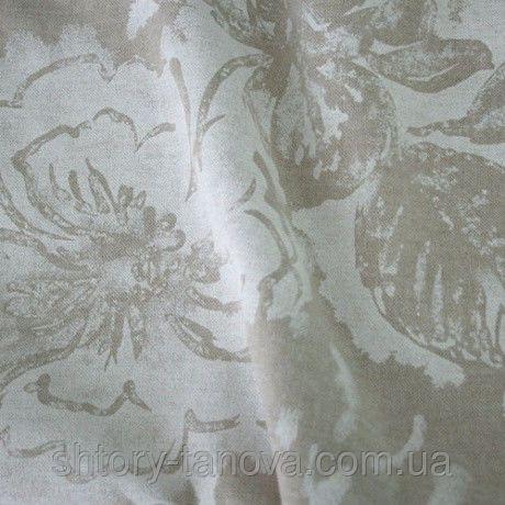 Декор камет цветы св.бежевый/молочный, фото 1