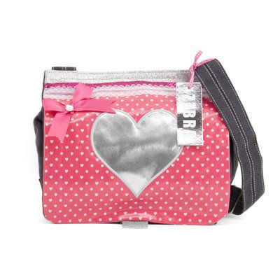 Zebratrends - groothandel - Apeldoorn - Canvas kindertas - Girly Pink hart