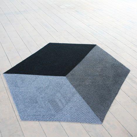 The Yachiyo metal rug by Philippe Malouin http://www.dezeen.com/2011/04/08/the-yachiyo-metal-rug-by-philippe-malouin/
