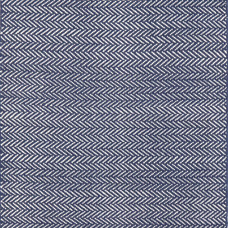 Dash & Albert - Herringbone Runner Rug - Indigo - 76x244cm