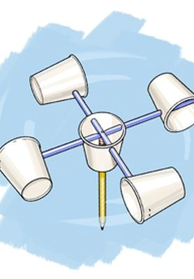 Build an anemometer and measure windspeed. This one is waterproof and could be left outside for longer term study.