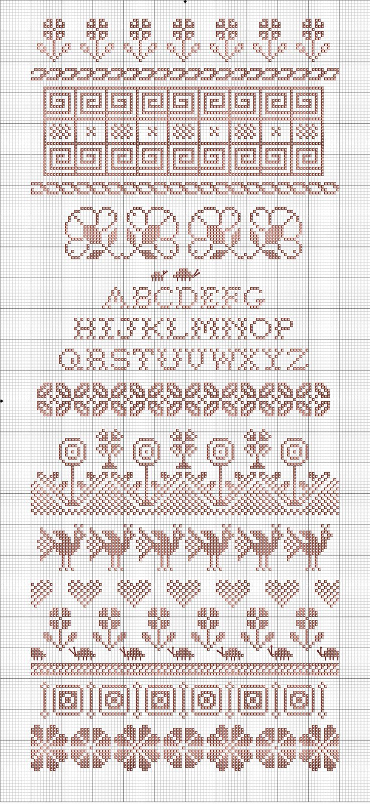 band sampler   Embroiderbee's Primary Hive