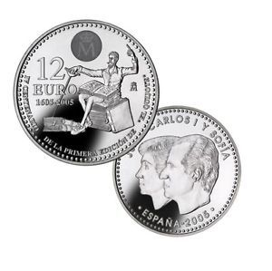 ESPAÑA 2005 - IV CENTENARIO DEL QUIJOTE - Moneda 12 Euros Conmemorativa Plata | eBay
