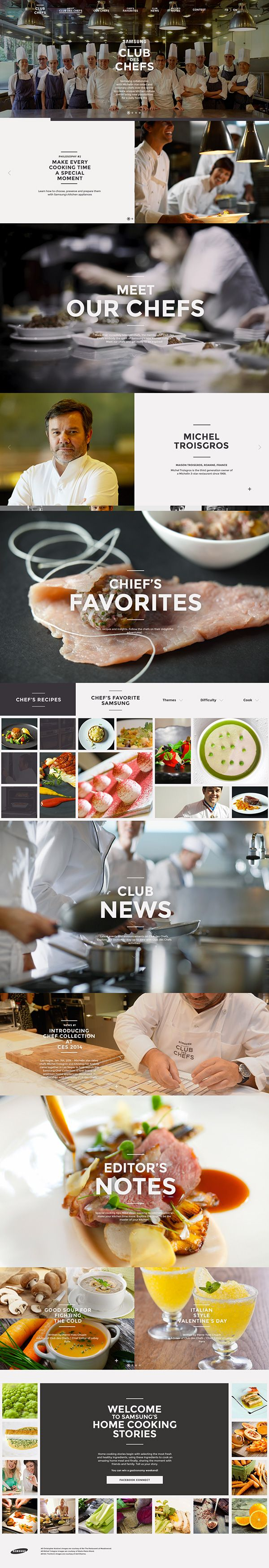 Samsung - Club des Chefs by Mathieu Debruyère, via Behance