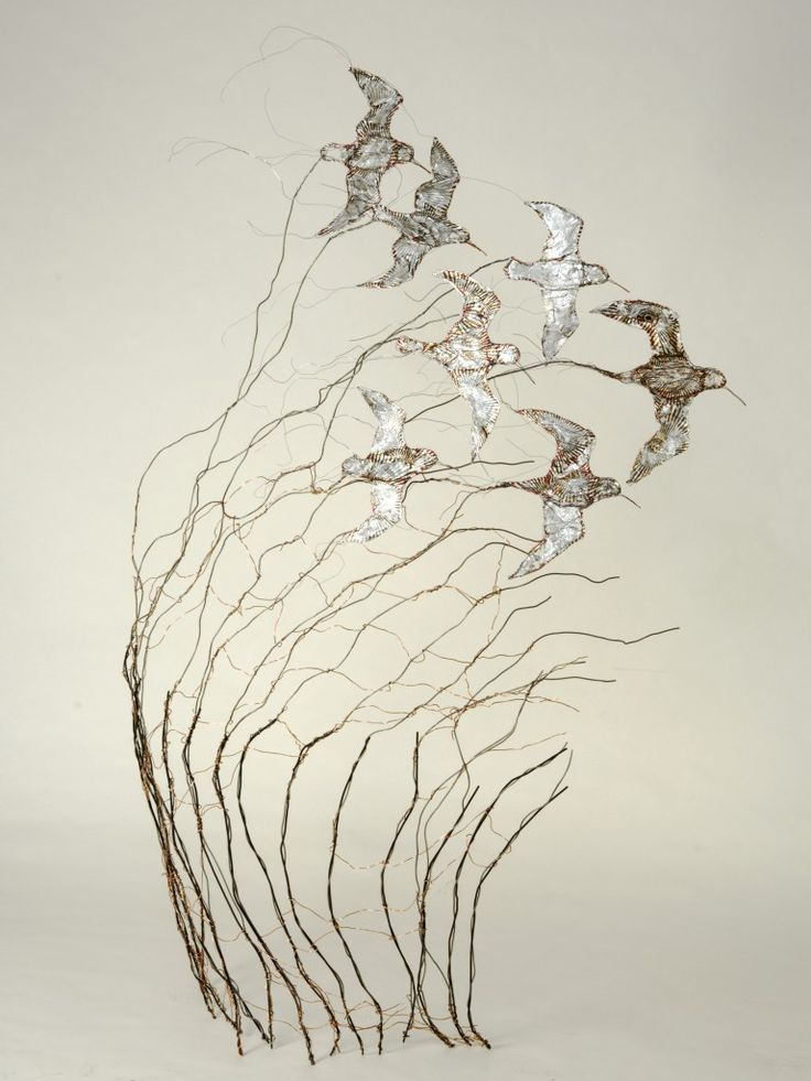 Gorgeous Wire Bird Sculptures by Celia Smith