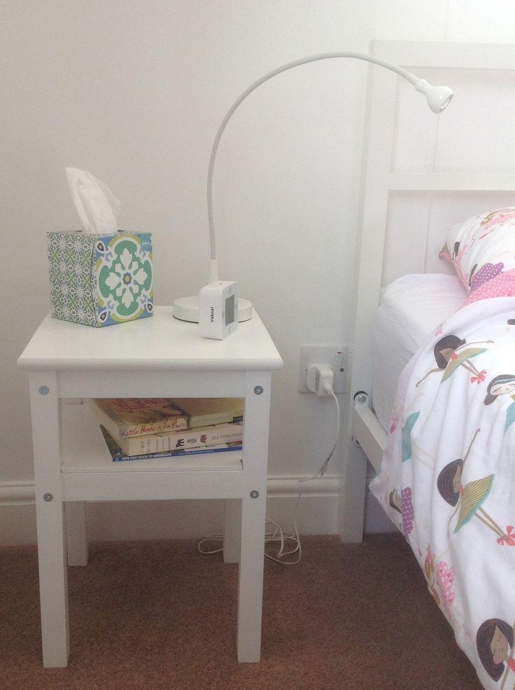 IKEA hack ODDVAR bedside table with shelf