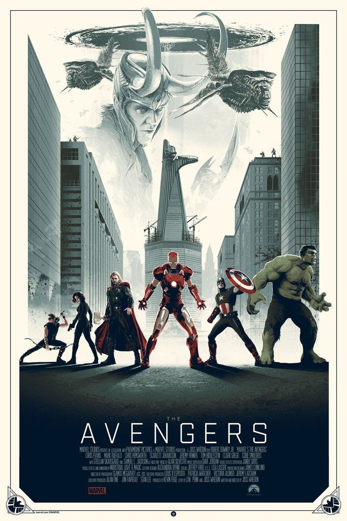 """""""The Avengers"""" - Limited Variant Edition - Marvel Comics Movie Poster – Grey Matter Art"""